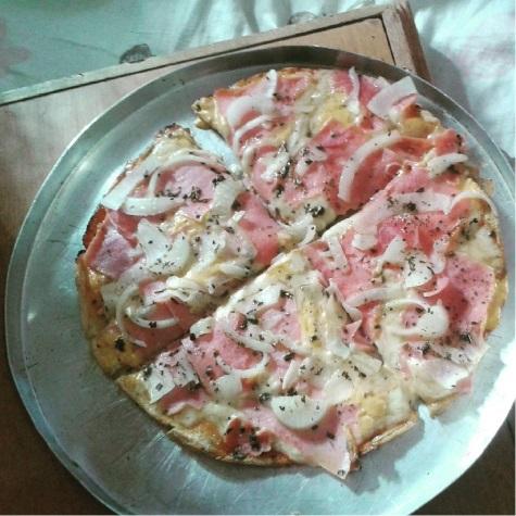 Parece mas não é – Pizza de Tapioca