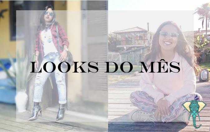 Looks do mês – Look Inverno Rosa/Xadrez e Calça Rasgada